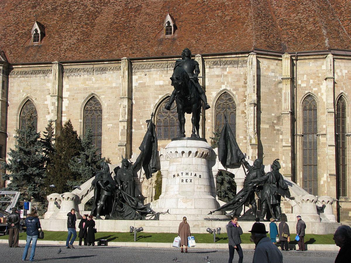 monument matthias corvin  u2014 wikip u00e9dia