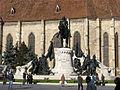 A felújított kolozsvári Mátyás király szobor 2010-12-03.jpg