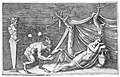 A satyr discovering a sleeping woman; two crabs hanging from a rope which is strung between a term and a tree MET 272615.jpg