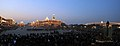 A view of the illuminated Rashtrapati Bhawan, South Block, North Block and Parliament House, during the Beating the Retreat Ceremony, in New Delhi on January 29, 2014.jpg