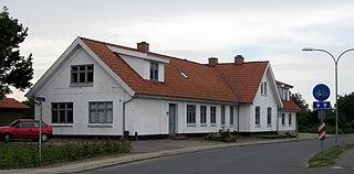 Aabybro Town in North Jutland, Denmark