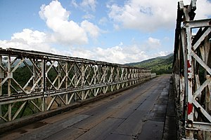 Rail transport in Central America - Old railroad bridge along the Hummingbird Highway.