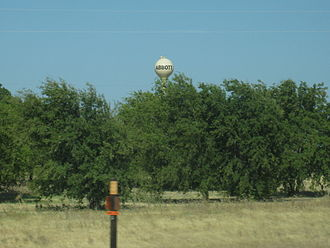 Abbott, Texas - View from I-35