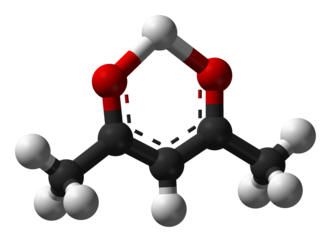 Acetylacetone - Image: Acetylacetone enol 3D balls