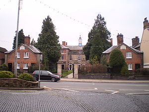 Newport, Shropshire - The Deans' houses and front of Adams' Grammar school