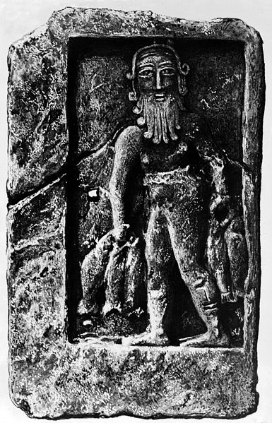 File:Adapa Sumerian deity of healing, painting of a relief Wellcome M0005792.jpg