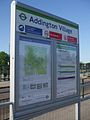 Addington Village tramstop signage.JPG