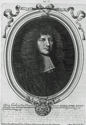 Wilhelm Egon von Fürstenberg - Portrait of Wilhelm Egon von Fürstenberg by Nicolas II. de Larmessin