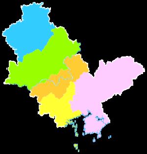 Huizhou - Image: Administrative Division Huizhou