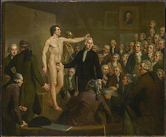 Adriaan de Lelie - Andreas Bonn lectures the Drawing Academy of the Felix Meritis Society, 1792, now in the Amsterdam Museum
