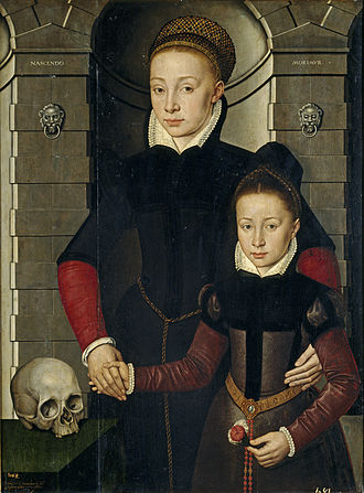 Adriaen van Cronenburg - Adriaen van Cronenburg, portrait of a lady and a young girl, 1567, Museo del Prado.
