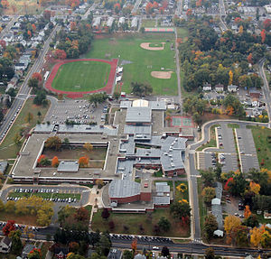 Manchester High School (Connecticut) - Manchester High School aerial shot, 2014.