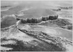 "Aerial view of ""Jupiter Terrace - Fountain Geyser Pool, Yellowstone National Park,"" Wyoming., 1933 - 1942 - NARA - 520006.tif"
