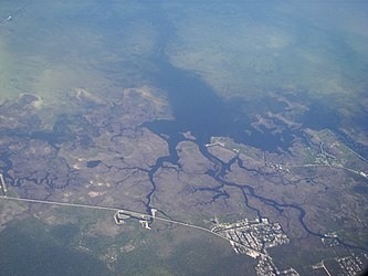 Aerial view of coastal Hernando County and Weeki Wachee Gardens, Florida.jpg