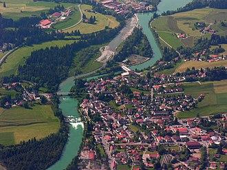 Lech (river) - Image: Aerials Bavaria.2006 08 45 22