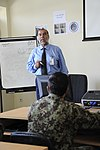 """Afghan instructor teaches a course at Pohantoon-e-Hawayee, the Afghan Air Force's """"Air University"""" .jpg"""