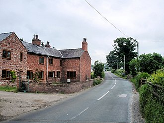 Agden, Cheshire West and Chester - Image: Agden the last house in Cheshire geograph.org.uk 842367
