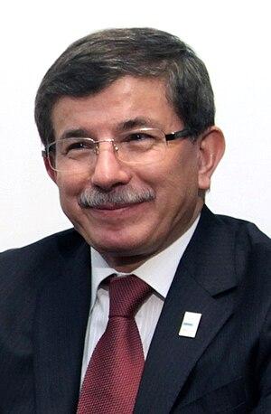 English: Turkish Foreign Minister Ahmet Davuto...