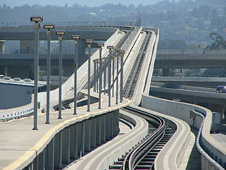 Communications-based train control - SFO AirTrain, in San Francisco Airport, was the first radio-based CBTC system