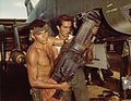Airmen remove M39 cannon from F-100 at Phu Cat 1967.jpg