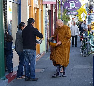 Thanissaro Bhikkhu - Ajaan Geoff going on almsround