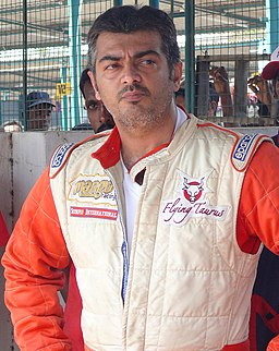 Ajith Kumar at Irungattukottai Race Track