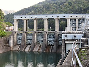 Akao Dam - Downstream face