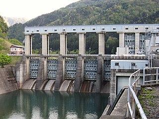 Akao Dam Dam in Nishiakao, Toyama Prefecture, Japan
