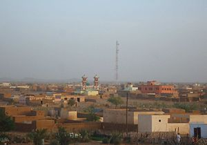 Skyline of Akjoujt