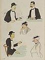 Album Sem à la mer bleue - portraits de M Marghiloman, baron A de Rothschild, Vanderbilt, un japonais.jpg