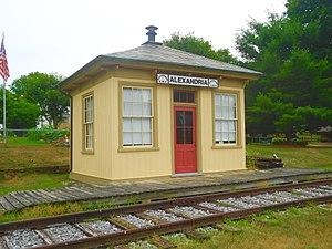 Alexandria, Pennsylvania - Image: Alexandria RR Station, Pennsylvania