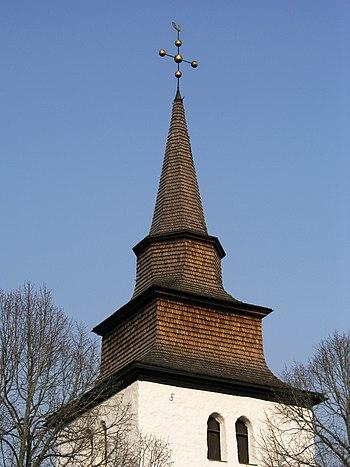 Alga kyrka church steeple
