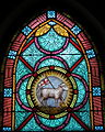 All Saints Catholic Church (St. Peters, Missouri) - stained glass, sacristy, Agnus Dei.jpg