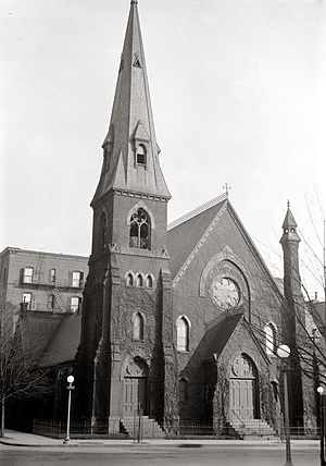 All Souls Church, Unitarian (Washington, D.C.) - Former All Souls Church building in downtown Washington, D.C., ca. 1916