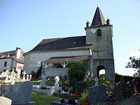 Alos (Alos-Sibas-Abense, Pyr-Atl, Fr) L'église.JPG