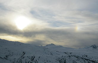 Meteorology - Parhelion (sundog) in Savoie
