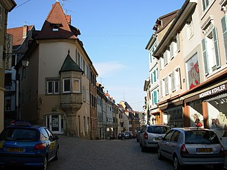 Altkirch - The historic centre of Altkirch