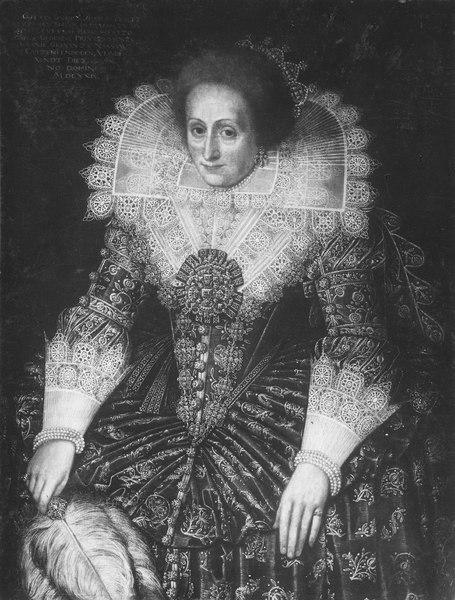 Amalia, 1581-1645, prinsessa av Nassau Oranien, pfalzgrevinna av Landsberg - Nationalmuseum - 15762