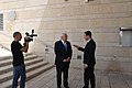 Ambassador Friedman interviews to Ch10 and Ch 2 (28429511628).jpg