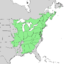 Amelanchier arborea range map 1.png