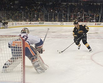 Overtime (ice hockey) - A shootout between the Providence Bruins (Boston Bruins AHL affiliate) and Bridgeport Sound Tigers (New York Islanders AHL affiliate)