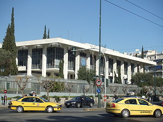 Vasilissis Sofias Avenue - The American embassy designed by Walter Gropius