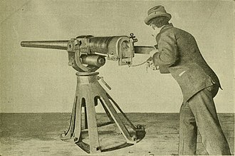 Driggs-Schroeder - Driggs-Schroeder 6-pounder gun being tested.