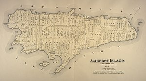 Amherst Island - 1878 map of Amherst Island