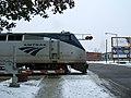 Amtrak Wolverine crossing North Burdick Street in Kalamazoo, December 2007.jpg