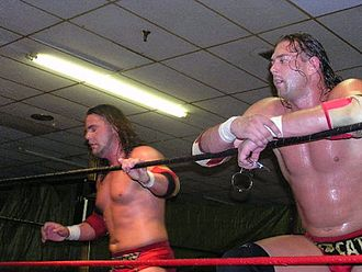 Chris Harris (wrestler) - Harris and James Storm at a house show