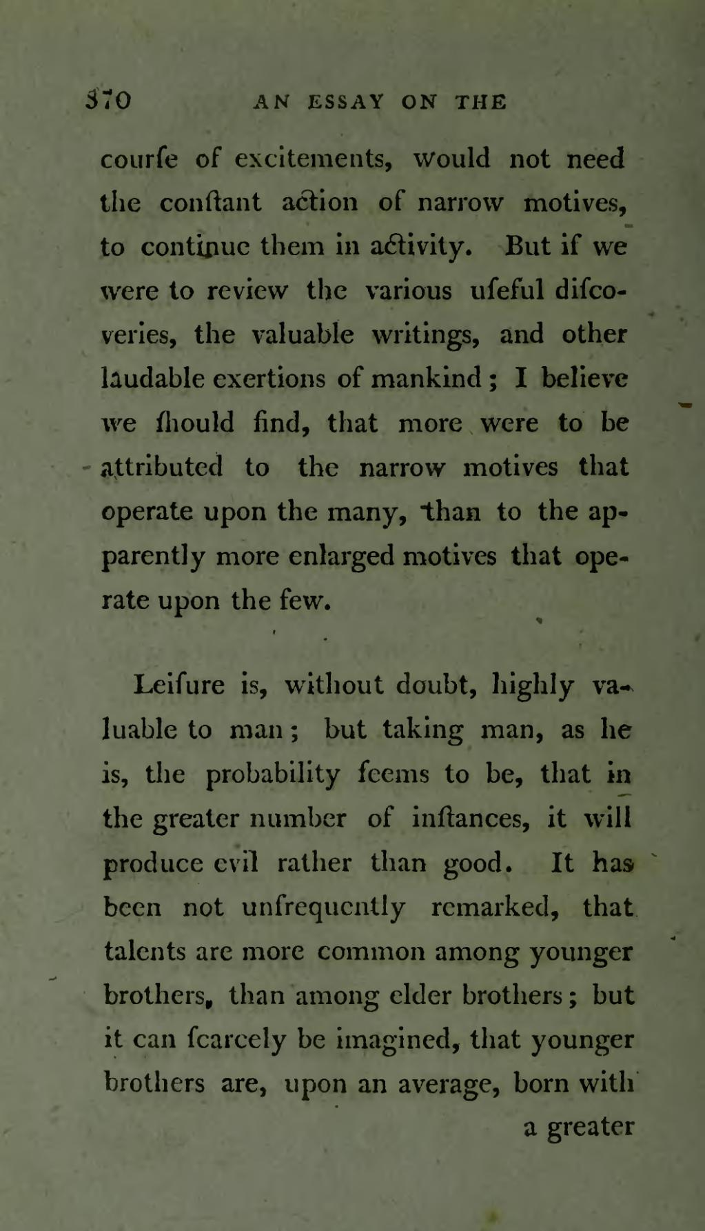 essay on the principle of population Essay on the principle of population, (anonymous in 1798 second edition much  enlarged and  in the essay, malthus gave his theory a mathematical form.