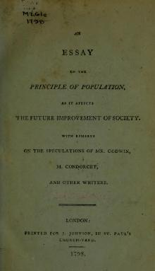 thomas malthuss 1798 work essay on the principle of population