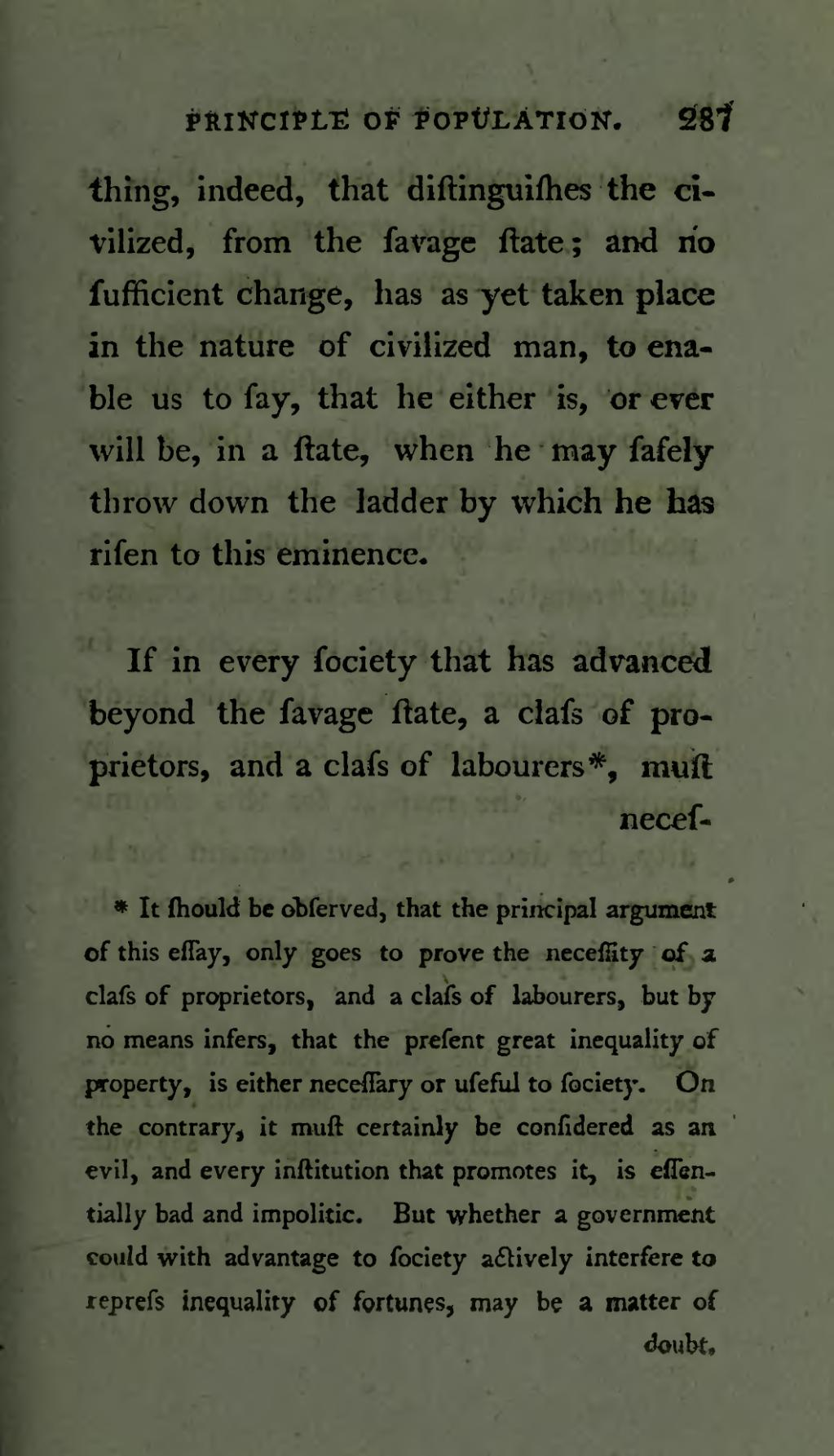 An essay on the principle of population 1798