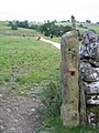 Ancient gatepost by the Pennine Way - geograph.org.uk - 630762.jpg